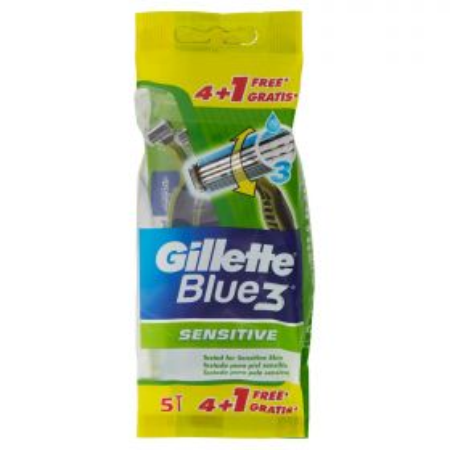 Gillette Rasoi Blue3 sensitive x 4