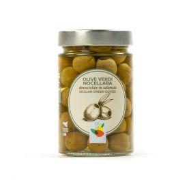 giù giù olive verdi denocciolate nocellara sicilia siciliano prezzemolo e vitale