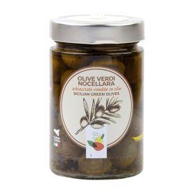 Giù Giù Olive nocellara schiacciate gr. 300