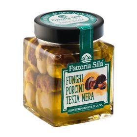 Fattoria Sila Funghi porcini testa nera in olio di oliva gr.314