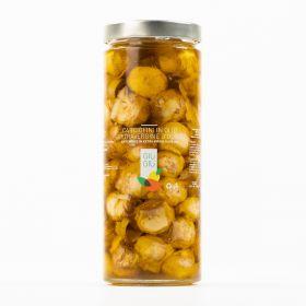 giù giù carciofini sott'olio 950 grammi sicilia siciliano prezzemolo e vitale