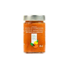 giù giù pesto pomodoro secco e mandorle gr. 200 sicilia siciliano prezzemolo e vitale