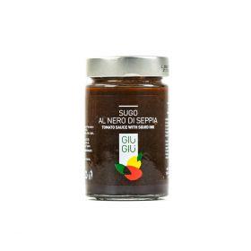 giù giù sugo al nero di seppia gr. 200 sicilia siciliano prezzemolo e vitale