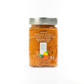 giù giù pesto ciliegino zucchine pistacchio gr. 200 sicilia siciliano prezzemolo e vitale