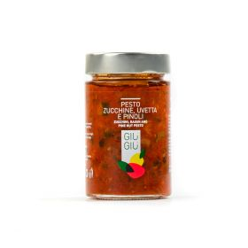 giù giù pesto zucchine uvetta pinoli sicilia sicilino gr. 200 prezzemolo e vitale