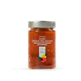 giù giù sugo pesce spada e melanzane gr. 200 sicilia siciliano prezzemolo e vitale