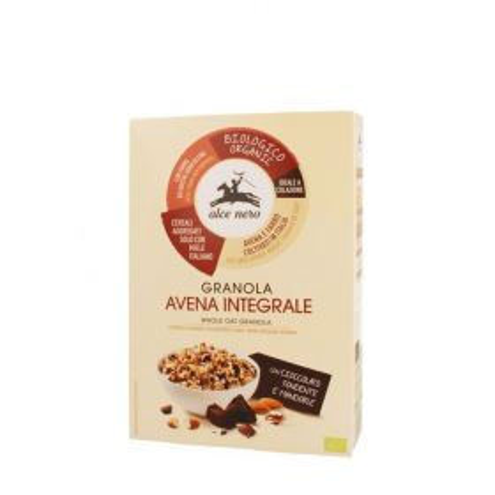 Alce Nero Granola di avena integrale con cioccolato e mandorle Bio