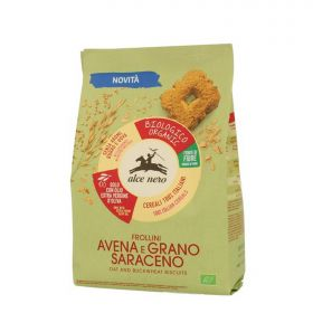 Alce Nero Frollini avena e grano saraceno bio gr. 250