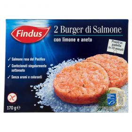 Findus Burger di salmone gr. 170